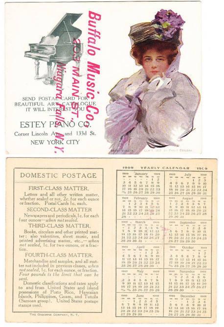 Kalendarz z pracą Philipe Boileau, wydanie The Osborne Company, New York, foto. rubylane.com