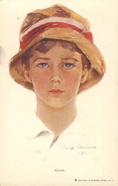 Philip Boileau sportretował siostrzeńca, którego wizerunek został użyty na kartach pocztowych i okładce magazynu