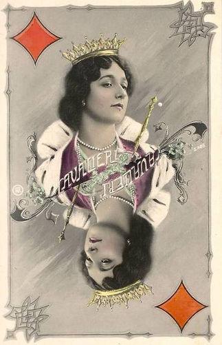 Lina Cavalieri - pocztówka z serii karty do gry
