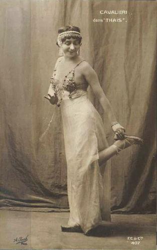 Lina Cavalieri, Thais - stara pocztówka