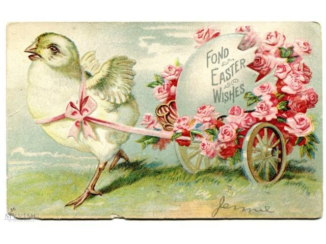 Wielkanocna pocztówa z USA, 1907