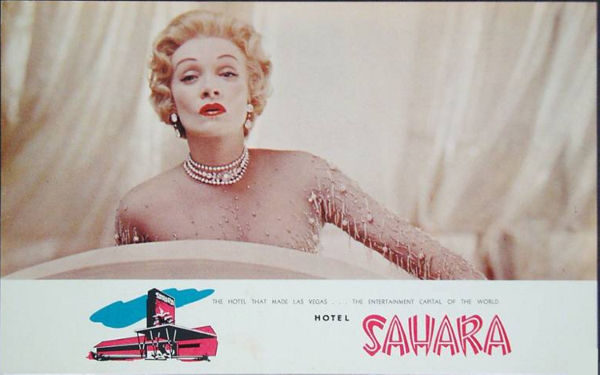 101 USD - Marlene Dietrich w Sahara Hotel w Las Vegas.