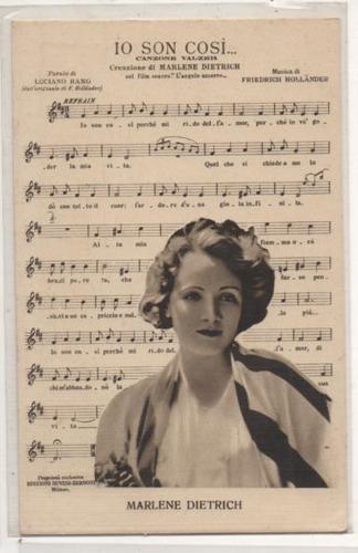 Przedwojenna pocztówka z Marlene Dietrich, sprzedana za 83 EUR