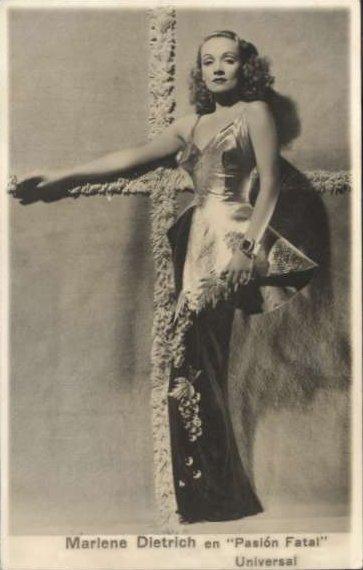 156 USD / pocztówka z Marlene Dietrich