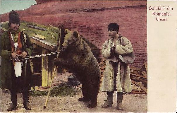 Ursari Rumunia (fot. Papervend, delcampe.net)