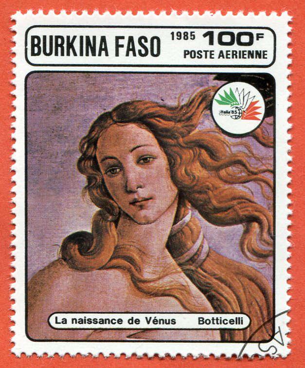 Burkina Faso 1985 Znaczek pocztowy Stamp painting (2)