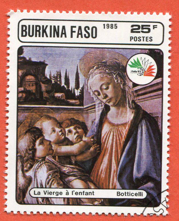 Burkina Faso 1985 Znaczek pocztowy Stamp painting (3)
