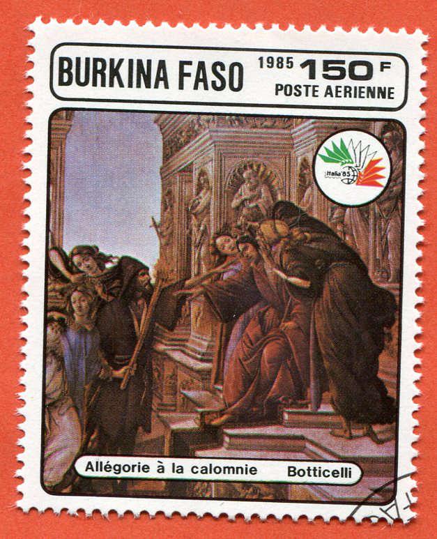 Burkina Faso 1985 Znaczek pocztowy Stamp painting (4)