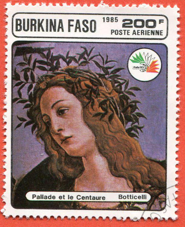 Burkina Faso 1985 Znaczek pocztowy Stamp painting (5)