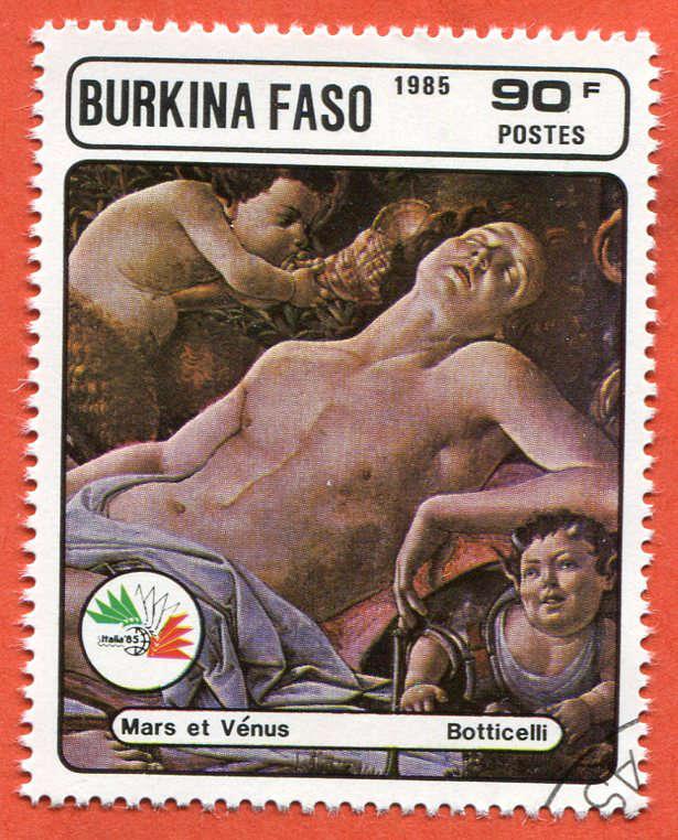 Burkina Faso 1985 Znaczek pocztowy Stamp painting