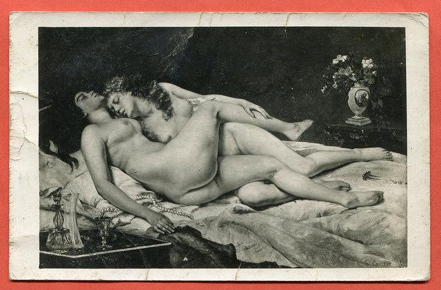 Gustave Courbet Le Sommeil Deux Amies Parsse et luxure (3)