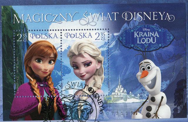 magiczny świat disneya fdc Poland 2015180
