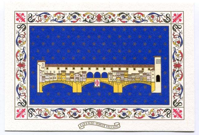 pocztówka z Florencji Ponte Vecchio ( Il Papirus, Firenze)