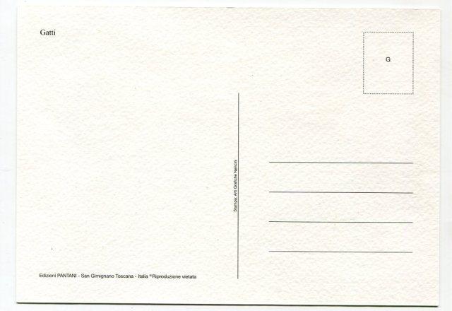 rewers pocztówka GATTI San Gimignano
