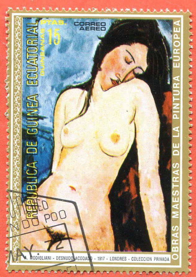Republica de Guinea Ecuatorial, Modigliani, Znaczek Pocztowy 1972