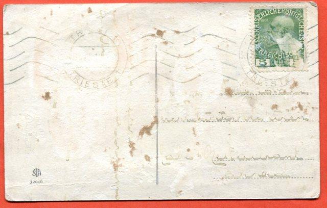 Sinceri Auguri _ Cartolina Postale Trieste c. 1910-1915
