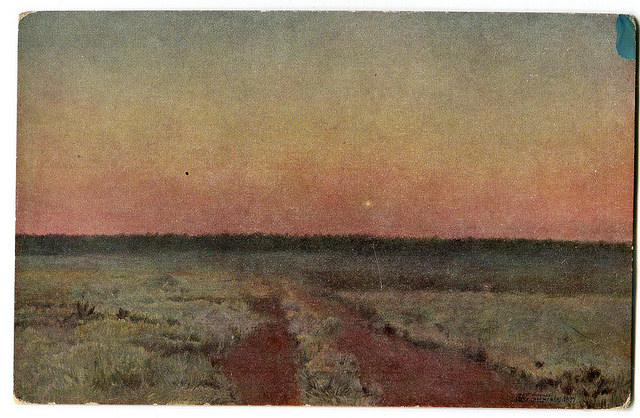 Stara Pocztówka Józef Chełmoński A. Raczyński Kraków 1908  (2)