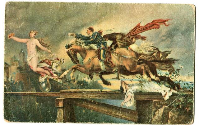 Stara Pocztówka, Rudolf Henneberg W pogoni za Szczęściem, Die Jagd nach dem Glueck, Stengel Dresden
