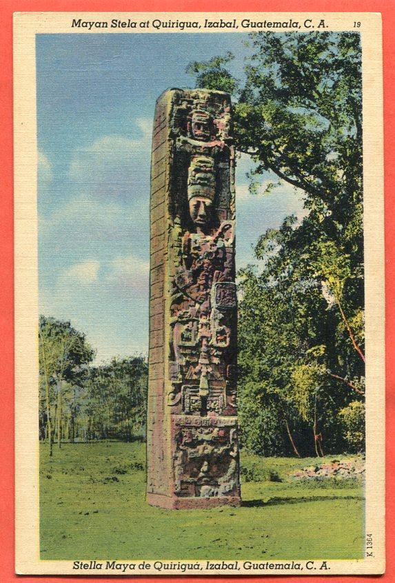 Stela Majów w Quirigua, Izabal, Guatemala, C.A.