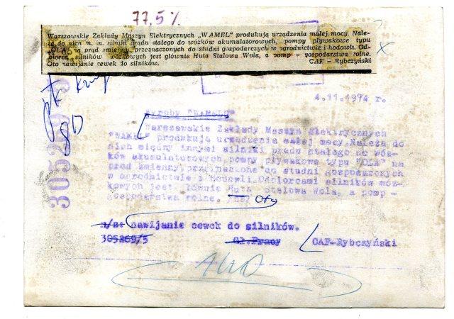 Warszawskie Zakłady Maszyn Elektrycznych WAMEL118