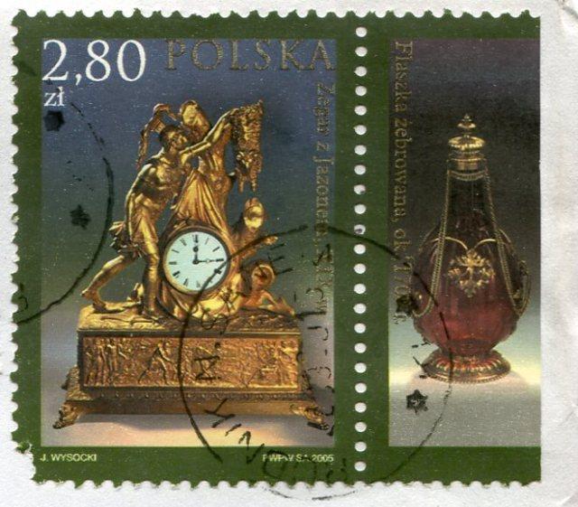 Znaczek Polska, 2005, Zegar z Jazonem