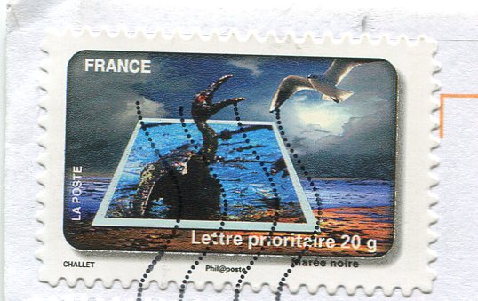 Protégeons l'eau, Marée noire, Challet, znaczek 2010