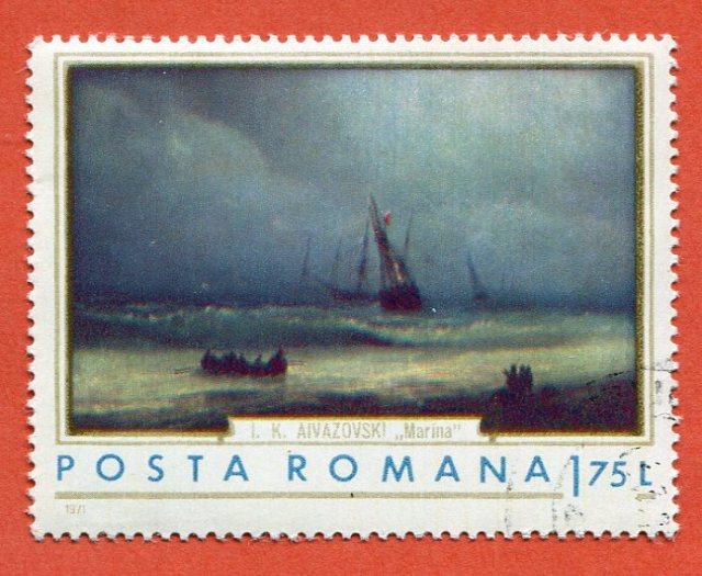 Aivazovski Marina Posta Romana 1971