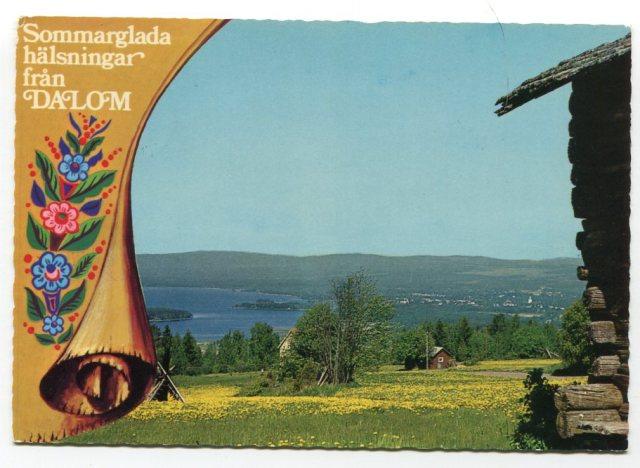 Dalarna - widok na komunę Orsa, Szwecja, 1978 (Ultra - Gerhards)