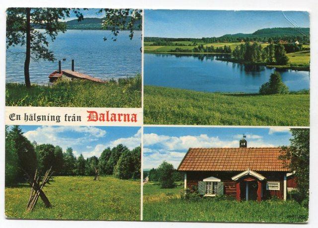 Dalarna , Szwecja 1976 (Handelsbolaget Harry Lange Vykortsproduktion)