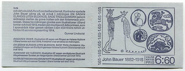 John Bauer, Czesław Słania, M. Franzen, mini książeczka ze znaczkami, 1982