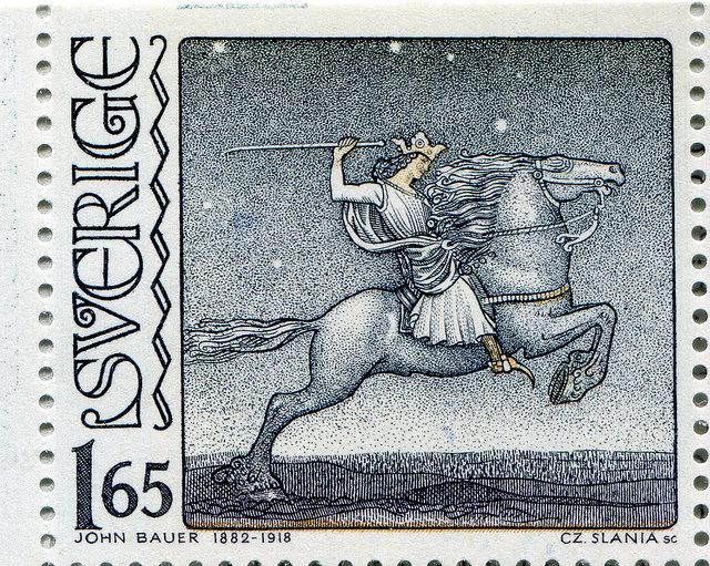 John Bauer, Czesław Słania, Rycerz na koniu, 1982