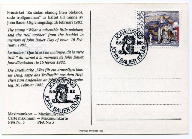 John Bauer Karta Maksimum, Mama Troll, Czesław Słania, 1982