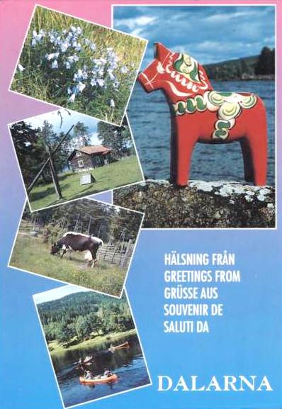 pocztówka z regionu Dalarna, ok. 1960-1970