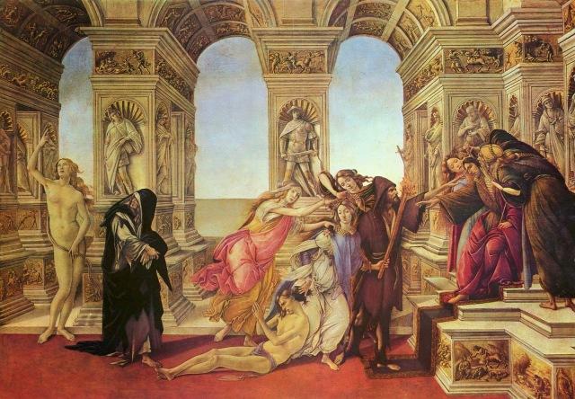Sandro Botticelli Alegoria Oszczerstwa