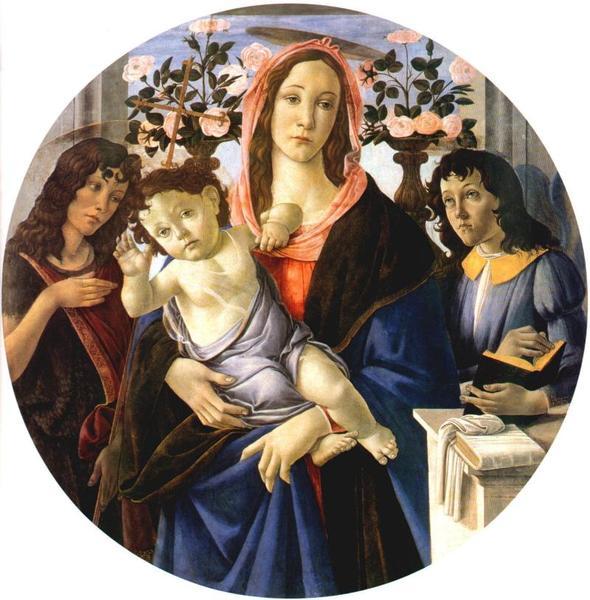 Sandro Botticelli,Madonna z Dzieciátkiem (MNW)
