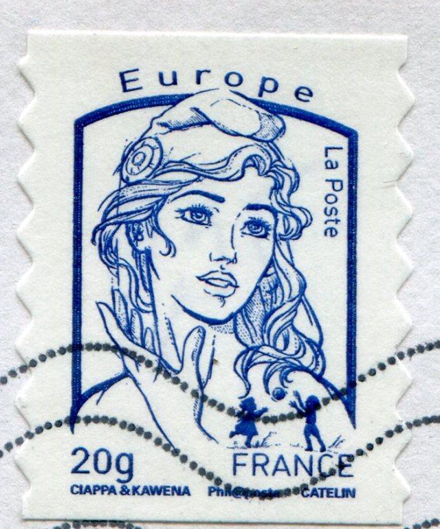 Ciappa et Kawena Marianna, znaczek na list 20g do Europy