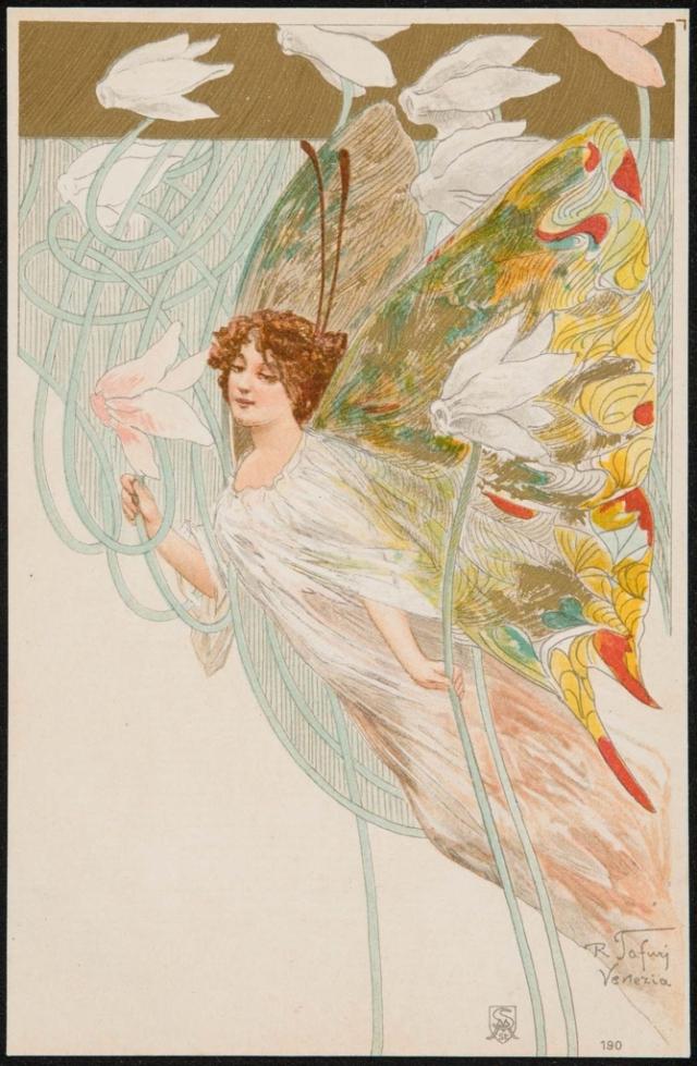 Raffaele Tafuri Art Nouveau Venezia stara pocztówka ( fot. http://www.mfa.org )