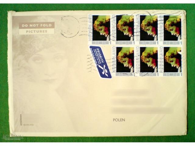 personalizowane znaczki pocztowe z Holandii, 2011 (Marlene Dietrich)