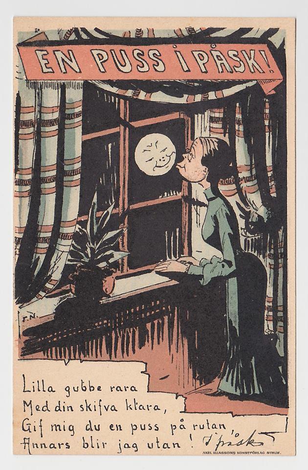 Wielkanoc na pocztówkach szwedzkich z początku XX wieku, autor. Tage Nilsson