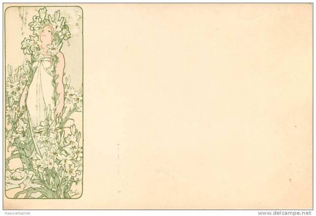 Alfons Mucha  Wiosna  Wydanie: ok. 1900  Art  Nouveau (Secesja)