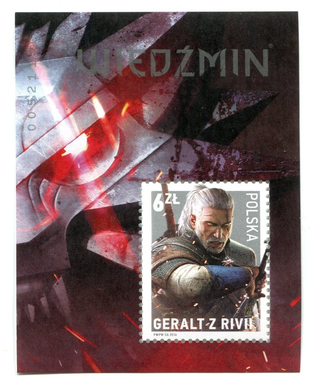 Wiedźmin - znaczek pocztowy 2016, Witcher postal stamp 2016