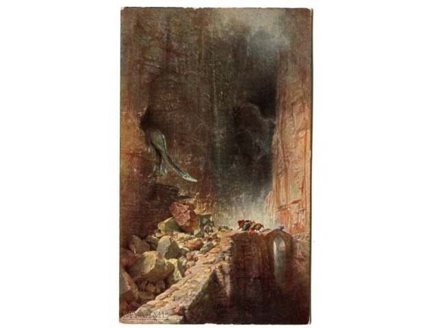 Arnold Böcklin Smok Smoczy jar Drachenschlucht