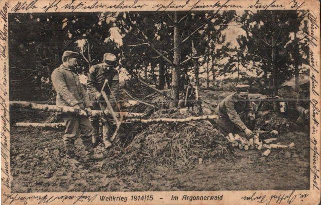 Codzienność Żołnierzy w Lesie Argońskim, obieg 1915