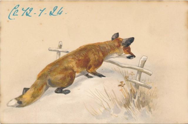 lis-na-pocztowce-francuskiej-c-1900