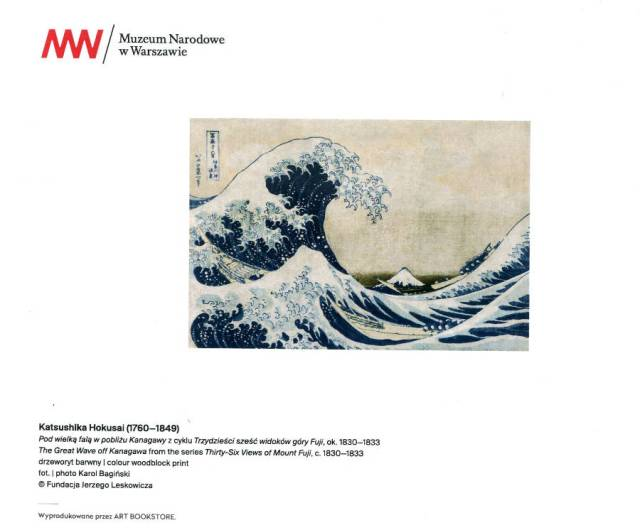 Katsushika Hokusai Pod wielką falą w pobliżu Kanagawy z cyklu Trzydzieści sześć widoków góry Fuji, ok. 1830-1833