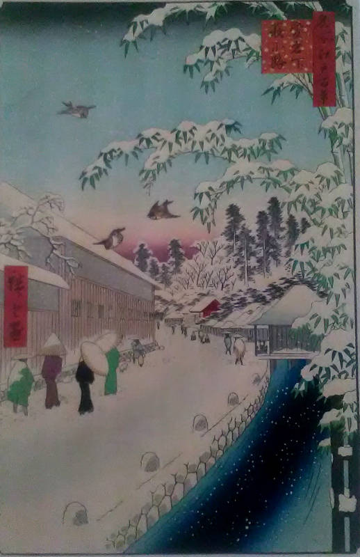 Utagawa Hiroshige, Sto Słynnych widoków EDO, drzeworyt barwny (1)