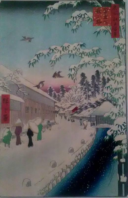 Utagawa Hiroshige, Sto Słynnych widoków EDO, drzeworyt barwny (1)